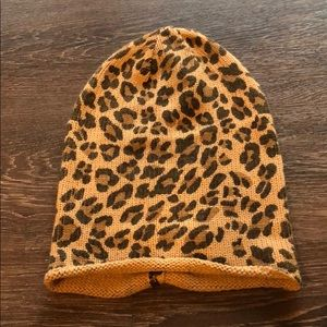BP leopard slouch beanie, never worn